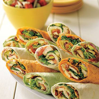 Tex-Mex Chicken Club WrapsRecipe