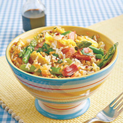 Fried Rice with Ham and AsparagusRecipe
