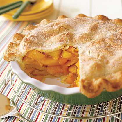 "Nothing says ""summertime"" like a homemade peach pie . The filling ..."
