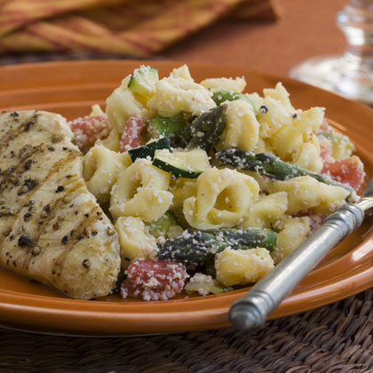 Three Cheese Tortellini-and-Vegetable Primavera