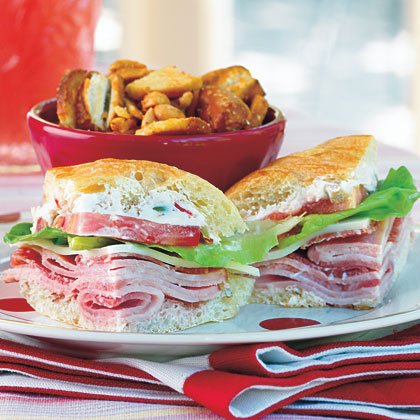 Ham and Cheese Party Sandwiches