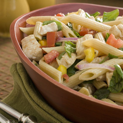 Penne With Chicken, Spinach, and Tomatoes With Balsamic VinaigretteRecipe