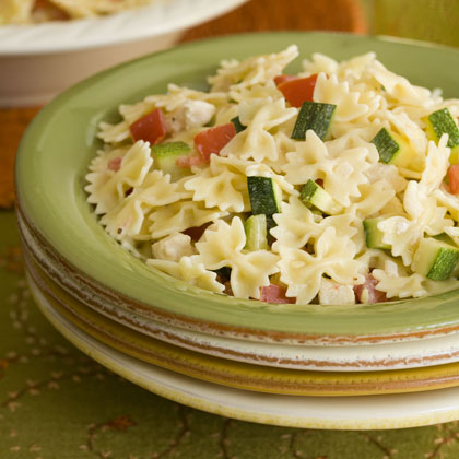 Piccolini Mini Farfalle With Zucchini, Chicken, and Tomato