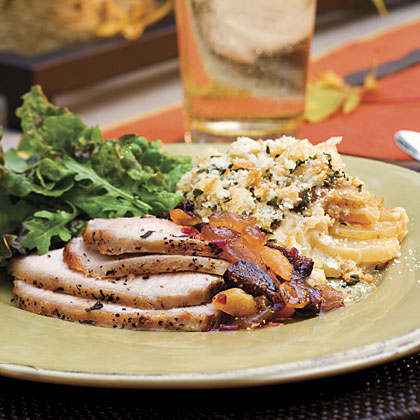 Grilled Pork Roast With Fruit Compote Recipe
