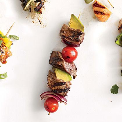 Steak and Avocado Kebabs