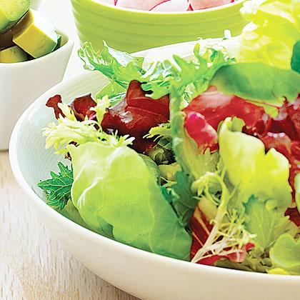 School Garden Salad with Chickpeas and Avocado
