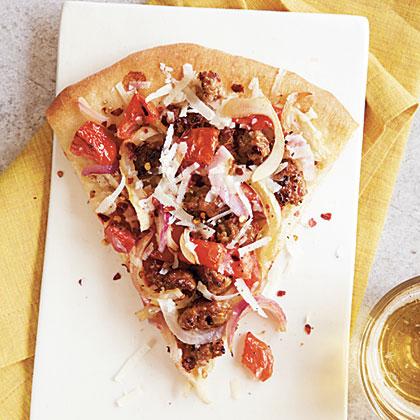 Sausage Pizza (Pizza alla Salsiccia) Recipe