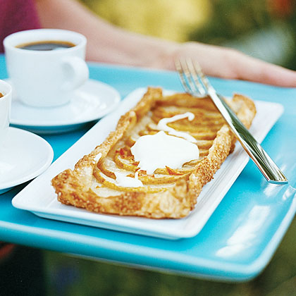 Rustic Pear Tarts with Crème Fraîche