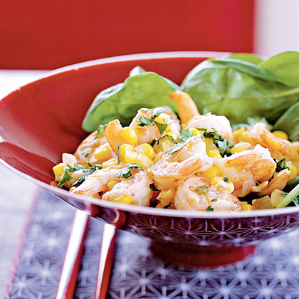 Sizzling Shrimp with Corn Relish