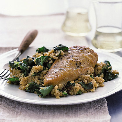Chicken with Bulgur Pilaf
