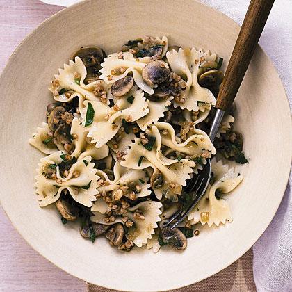 Pasta with Mushrooms and KashaRecipe