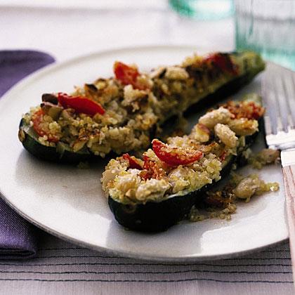 Zucchini with Quinoa Stuffing