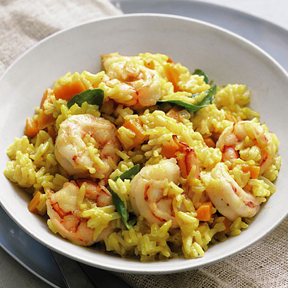 Curried Rice with Shrimp