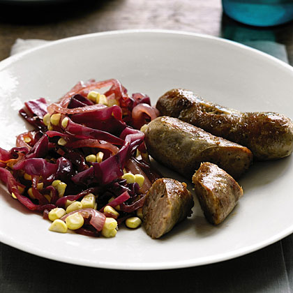 Sausage with Cabbage and Corn SautéRecipe
