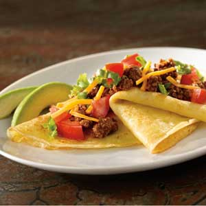 Corn Crepes with Taco Filling Recipe