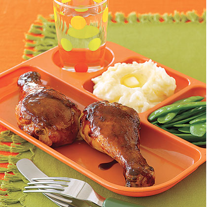 Make a super-quick teriyaki sauce with soy sauce, brown sugar, garlic, and ginger, spoon it over the drumsticks, and broil. This chicken is also great for the grill.Teriyaki Chicken Drumsticks Recipe
