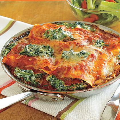 Spinach-Ricotta Skillet Lasagna