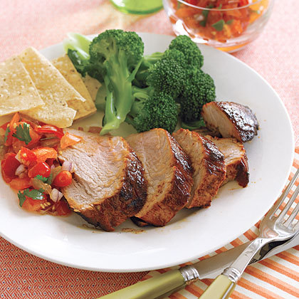 Chili-Lime Pork Tenderloin RecipeThe tenderloin is the leanest cut of pork–a 3-ounce serving contains just 120 calories and less than 3 grams of total fat. Season with chili powder and fresh lime juice to add extra flavor without additional calories or sodium.