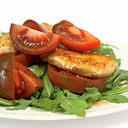 Baby Arugula with Tomatoes and Goat Cheese Recipe