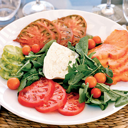 Heirloom Tomatoes with BurrataRecipe
