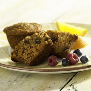 Lite Carrot Raisin Muffins Recipe