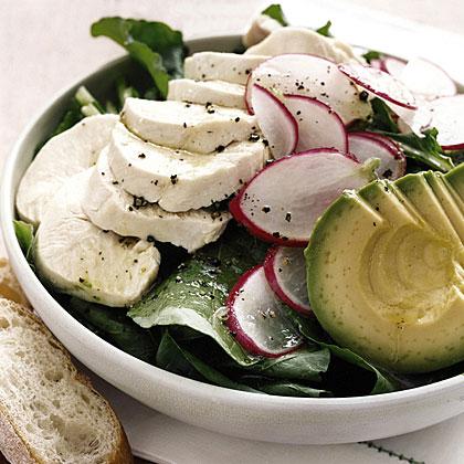 Arugula Salad with Chicken and Avocado