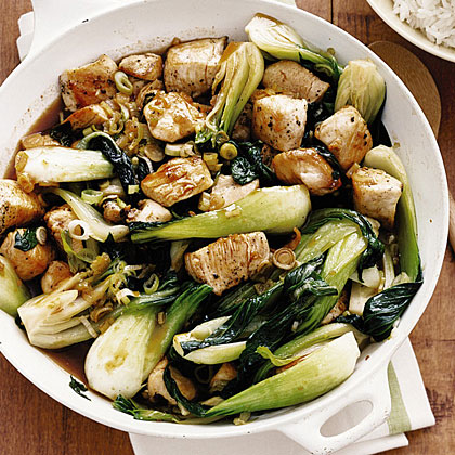 Chicken and Bok Choy Stir-Fry Recipe | MyRecipes