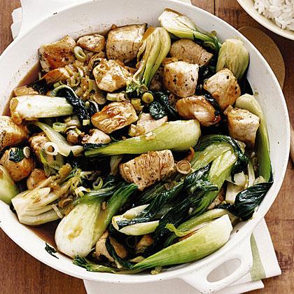 Chicken and Bok Choy Stir-Fry Recipe   MyRecipes.com