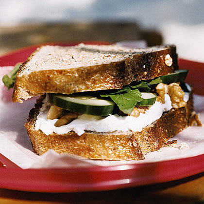 Cucumber and Goat Cheese Sandwiches