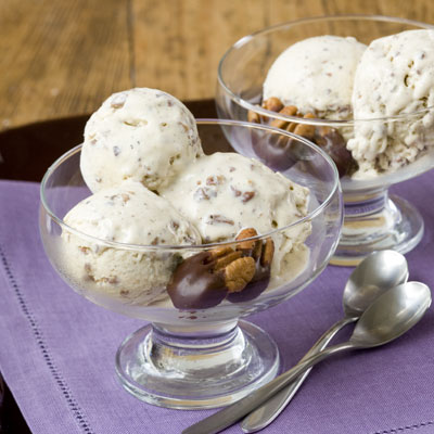 Brown Butter-Pecan-Bourbon Ice Cream