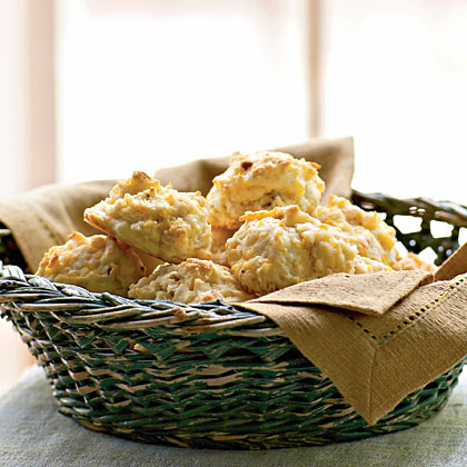 Cheddar-Bacon Drop Biscuits Recipe | MyRecipes