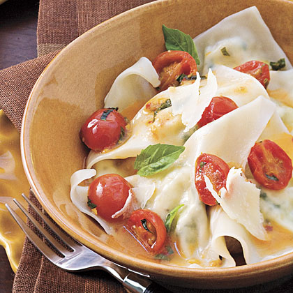 Cheese Ravioli With Spicy Tomato Sauce RecipeChange the level of spiciness by adjusting the amount of dried crushed red pepper.