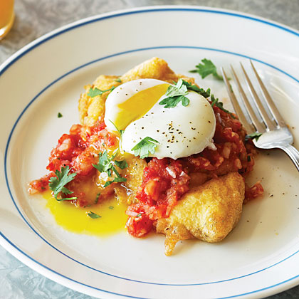 Chiles Rellenos and Eggs with Tomato Jalapeño SalsaRecipe