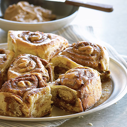 Get ready to lick your fingers clean after melting into this ooey-gooey breakfast treat topped with warm cinnamon butter. We love the weekend!Recipe: Giant Cinnamon Rolls