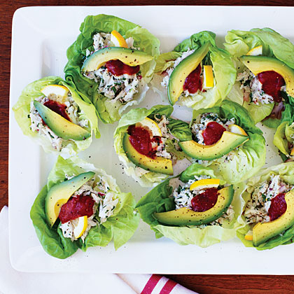 Crab Salad Cups RecipeServe a chilled appetizer salad loaded with crab, avocado, and fresh parsley. It's light enough to balance the rest of your appetizer spread, but hearty enough to provide a solid base for the party's bar menu.