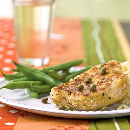 <p>Pork with Lemon-Caper Sauce</p>