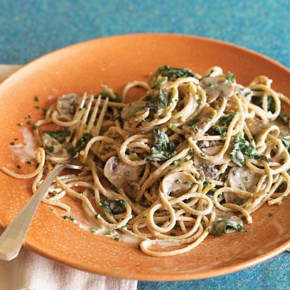 Spinach Mushroom Pasta
