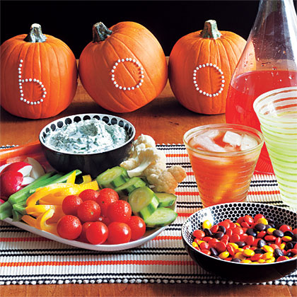 Spectacular Dinner Menu MenuServe up some Halloween fun with this hauntingly tasty dinner for eight.
