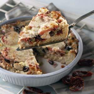 1-Dish Mediterranean Chicken Pizza Bake Recipe
