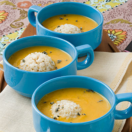 Sage Butternut Squash Soup With Brown Rice Recipe