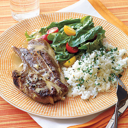 Lamb Chops with Tahini Sauce