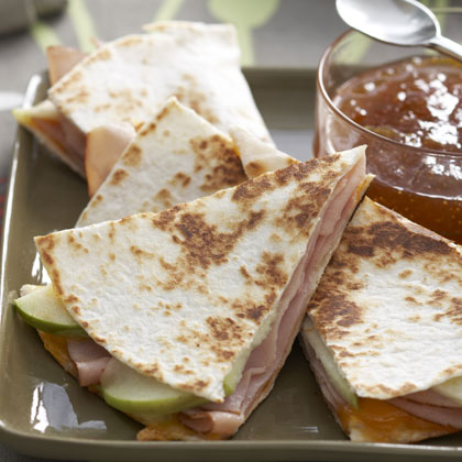 Ham-Apple-Cheddar QuesadillasRecipe