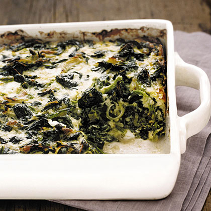 Baked Spinach and Gruyère
