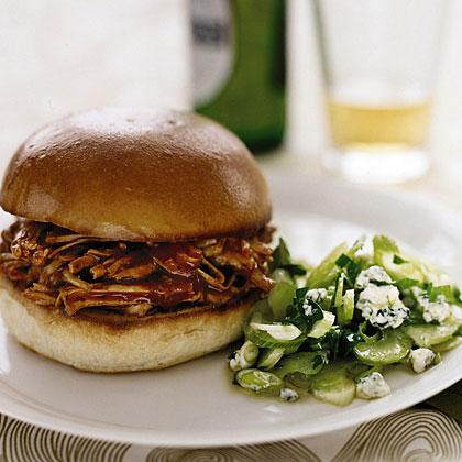 Barbecue Turkey Sandwiches with Celery SaladRecipe