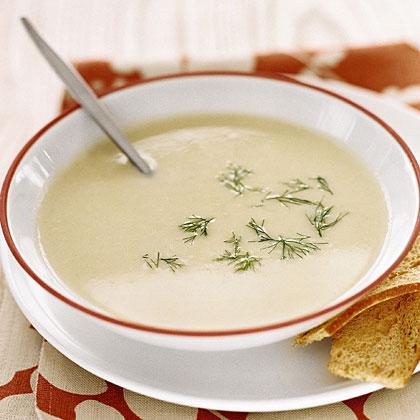 Creamy Mashed Potato and Leek Soup