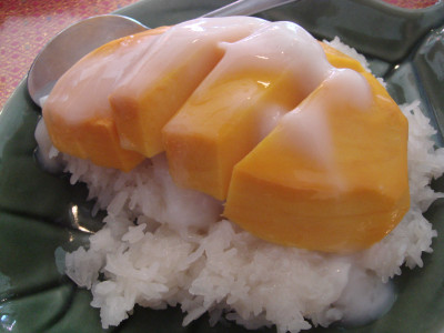 Lucky Woman: Jitlada Thai Restaurant: Mango and Sticky Rice