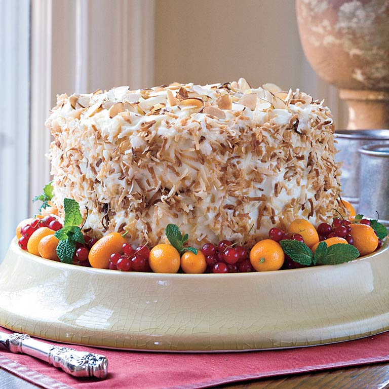 Coconut-Almond Cream CakeRecipe