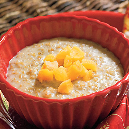 Creamy Oatmeal RecipeInstant oatmeal may be quick and convenient, but there's really no substitute for the distinctively chewy texture of hearty Irish steel-cut oats. And once you've tasted this tantalizing combination of brown sugar, dried apricots, cinnamon, and cloves, you'll never go back to instant again.