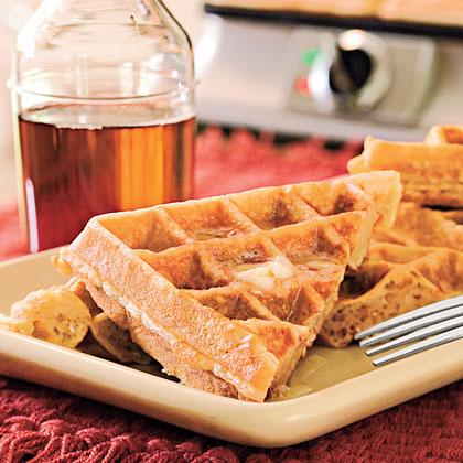 Oatmeal-Honey Waffles Recipe