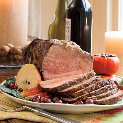 Roast Pork With Garlic-Onion Gravy Recipe